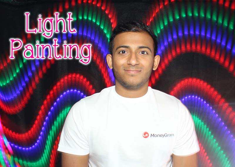 light painting booth in the UK