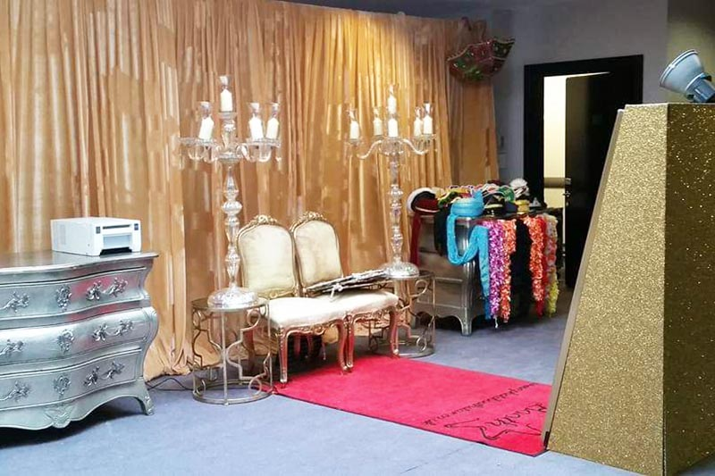 Indian themed mirror booth
